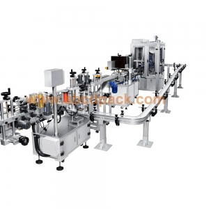 Flexiable filling line with puck system